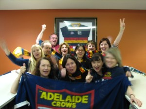 Excited Crows fans