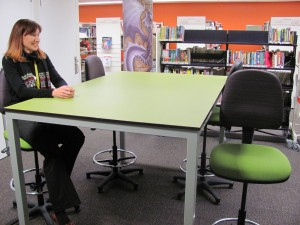 Funky new furniture for the library