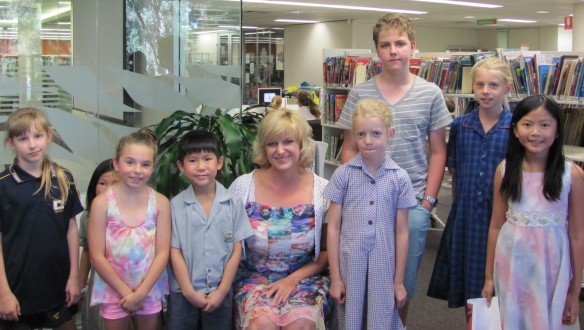 Mayor Miriam Smith and Summer Reading Club book log and review finalists
