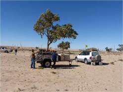 A quiet falt campsite a little way from the dustbowl the main camping ground became