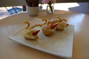 Topiary Pantry choux pastry swan