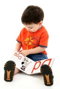 Preschooler reading