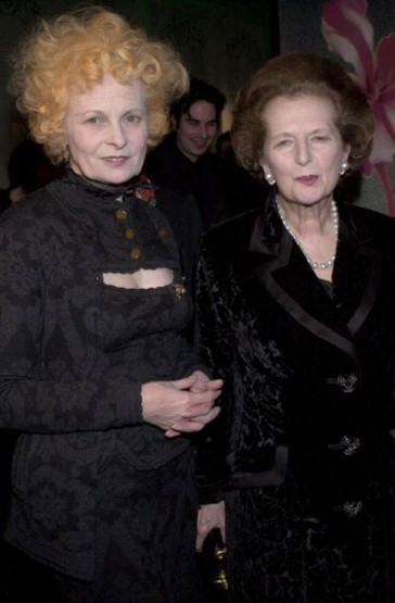 Vivienne Westwood and Margaret Thatcher