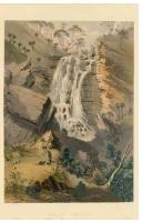 1846 Glen Stuart Falls (Second Falls) Giles Lithograph