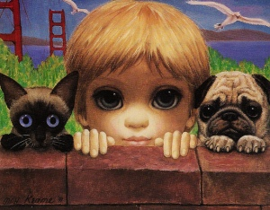 Margaret Keane, San Francisco Here We Come, 1991.