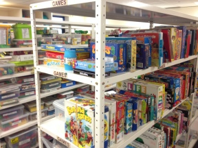 Working at the Toy Library