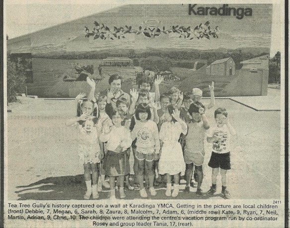 Karadinga mural with children