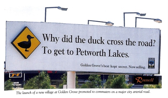 Duck billboard
