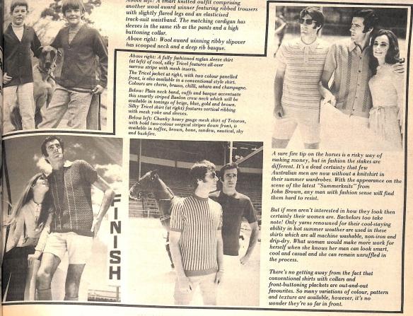 Mens fashions knit shirt
