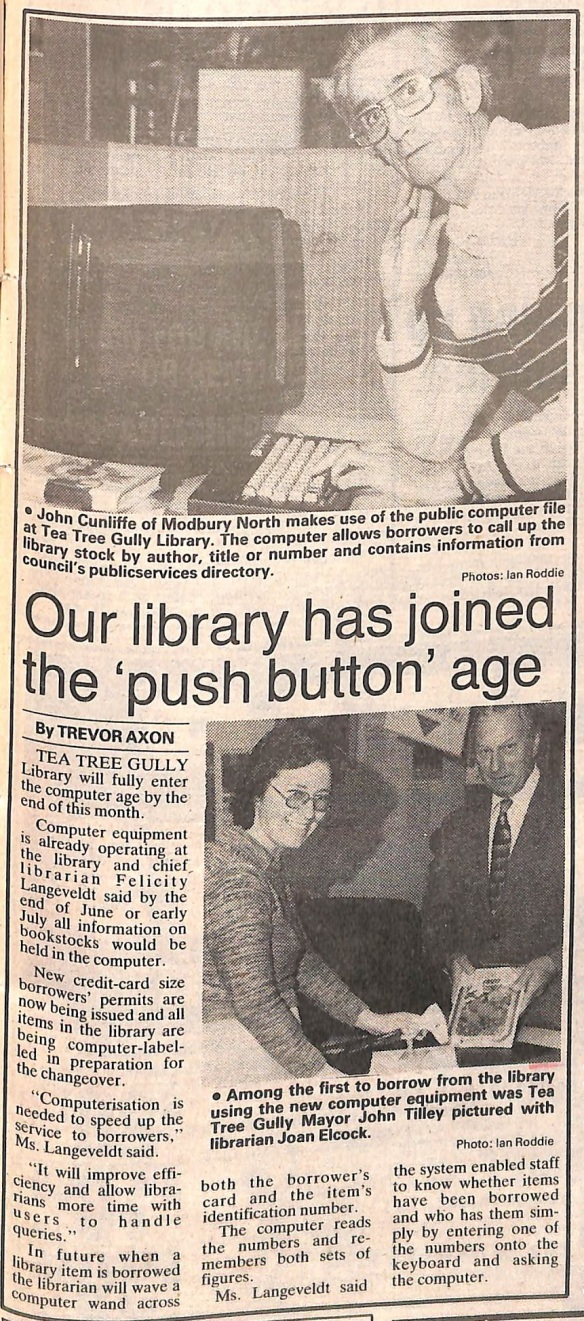 Library enters computer age